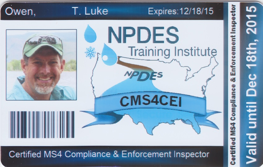 Certified MS4 Compliance & Enforcement Inspector