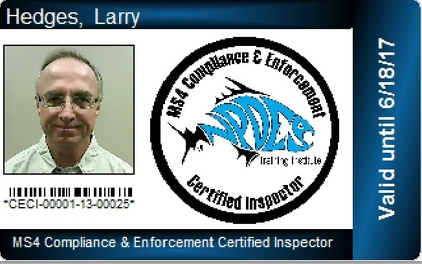 MS4 CECI Certification Card image