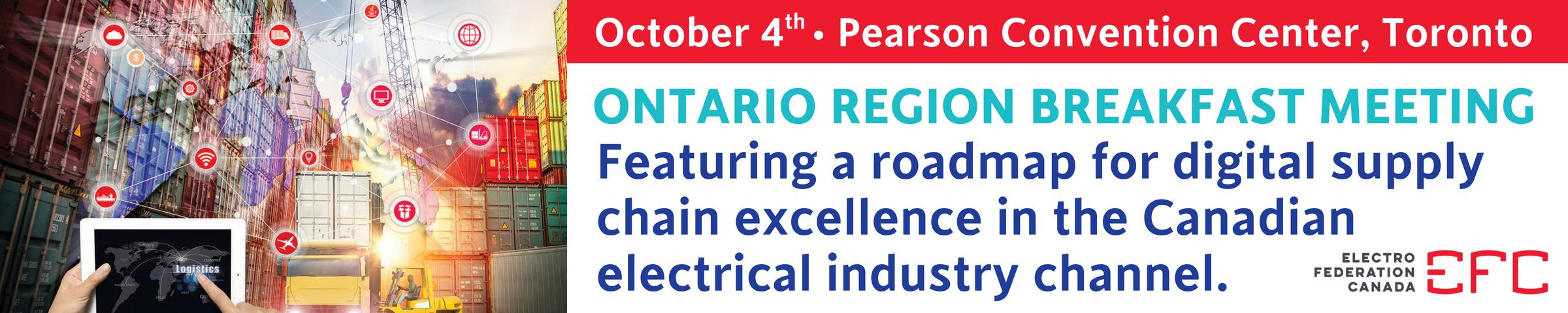 EFC Ontario Region Breakfast Presentation - October 4, 2018