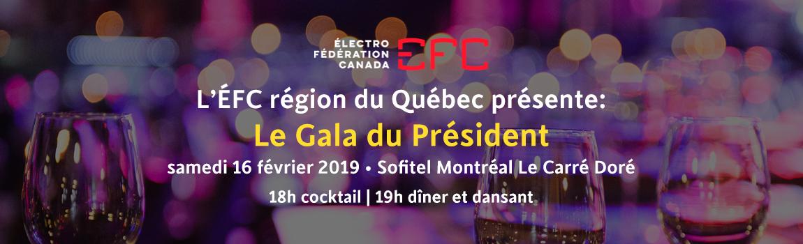 Gala du Président de L'ÉFC Québec
