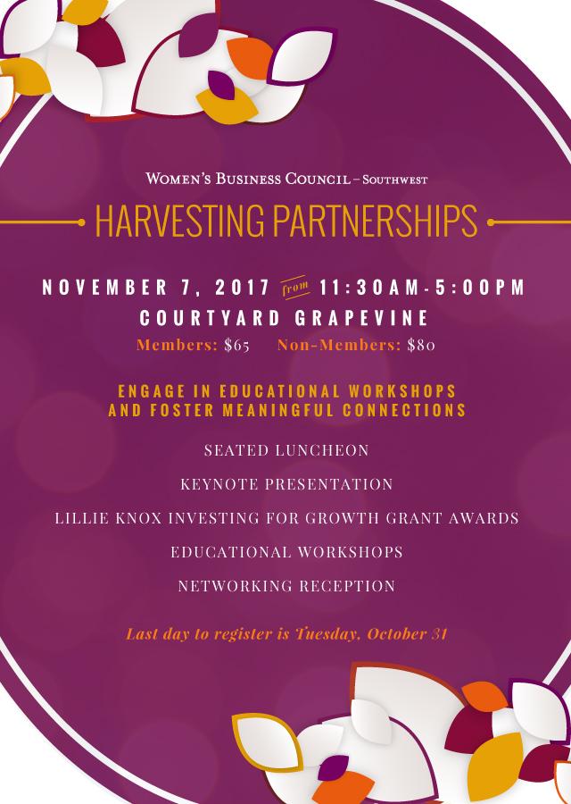 2017 Harvesting Partnerships Invite