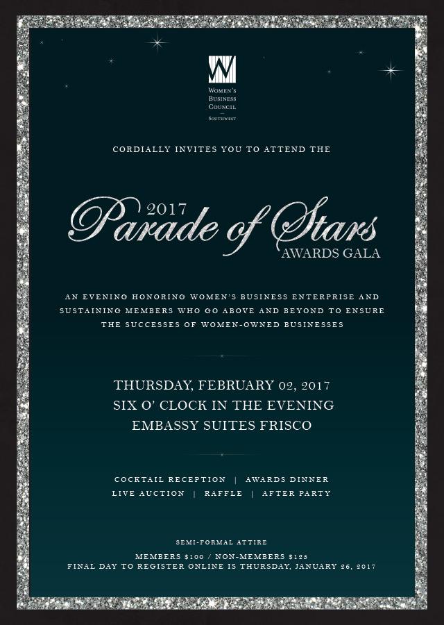 2017 Gala Email Invitation
