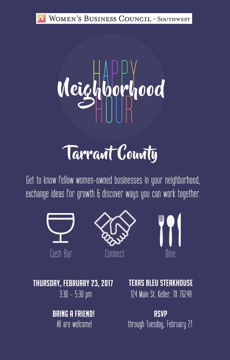 Tarrant County Happy Hour Invite