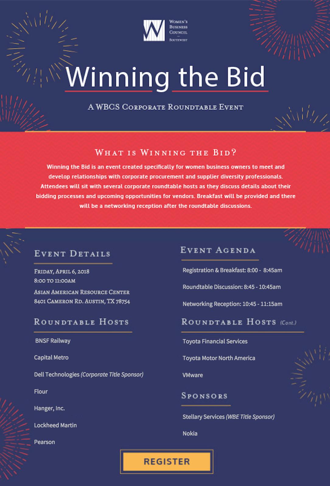 Winng the Bid Evite #2