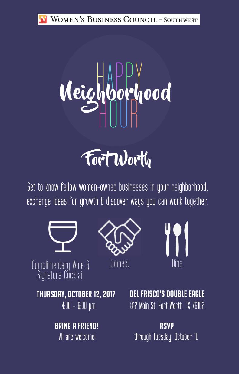 Fort Worth Happy Hour Invite