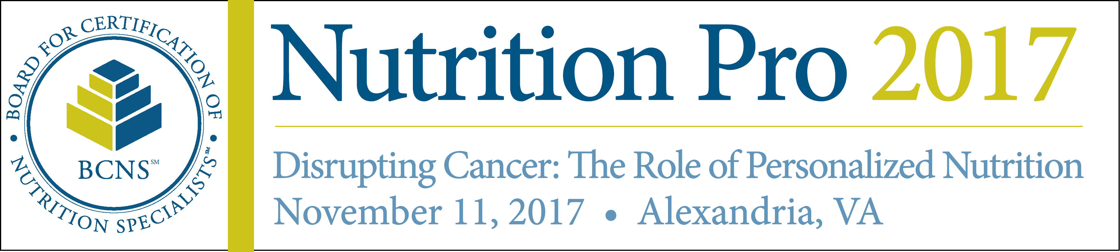 Nutrition Pro 2017: Disrupting Cancer: The Role of Personalized Nutrition