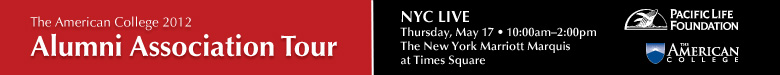 The American College Alumni Association Tour 2012 - NYC Live