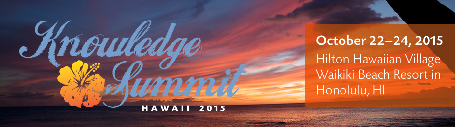 2015 Knowledge Summit & Commencement