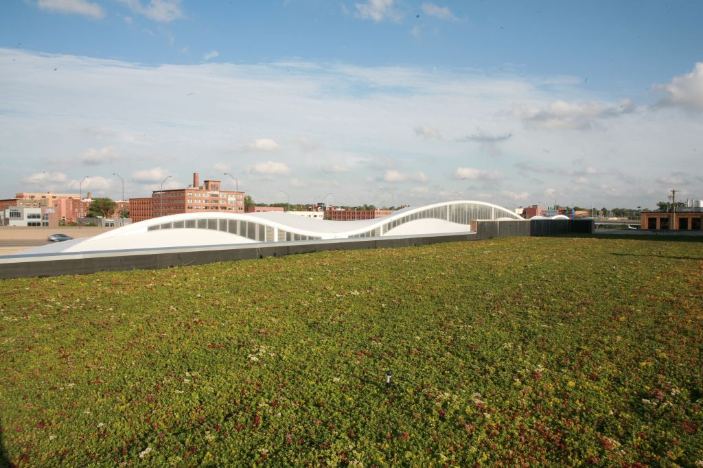 Green Roof at the Rapid Bus Station, Grand Rapids