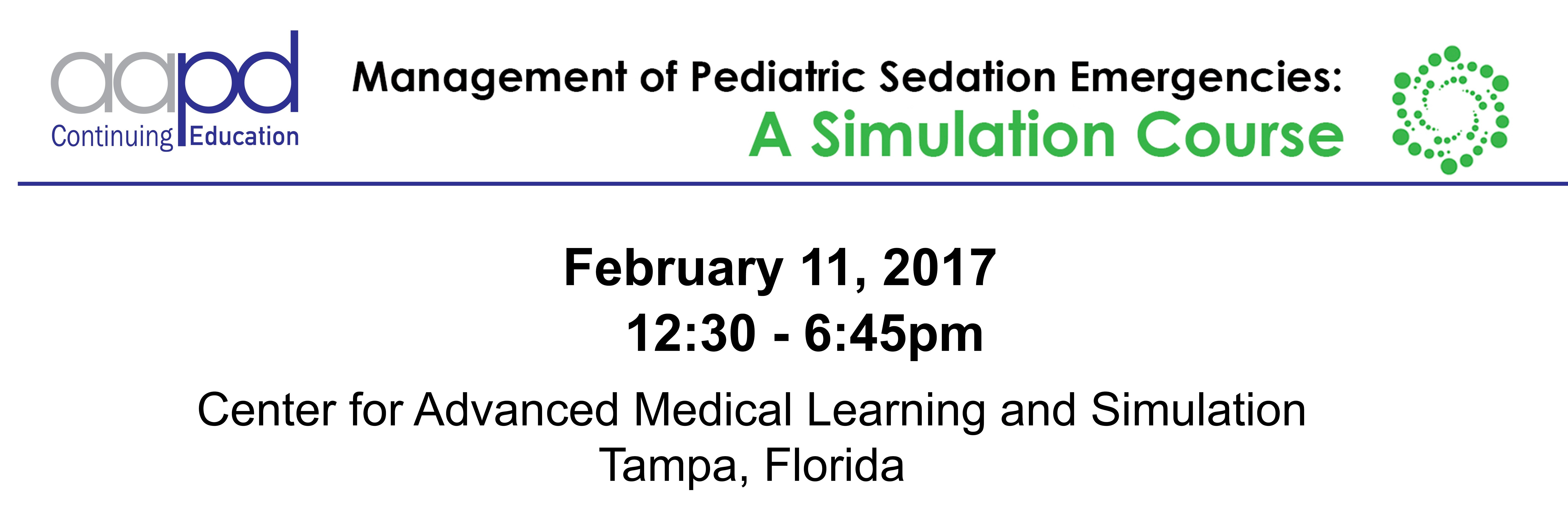 Management of Pediatric Sedation Emergencies: A Simulation Course