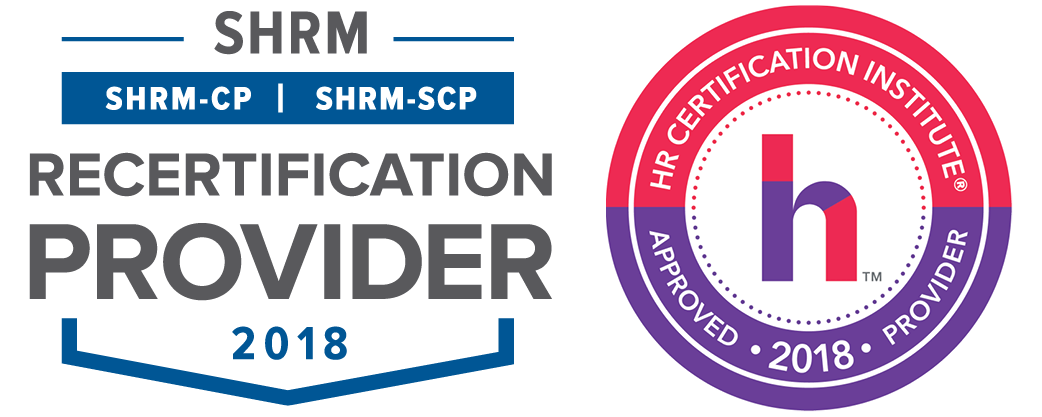 SHRM and HRCI 2018 Seals Side by Side
