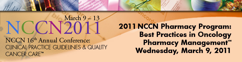 2011 NCCN Pharmacy Program