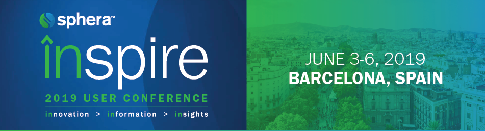 Sphera inspire 2019 User Conference EMEA