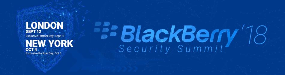 BlackBerry Security Summit New York 2018
