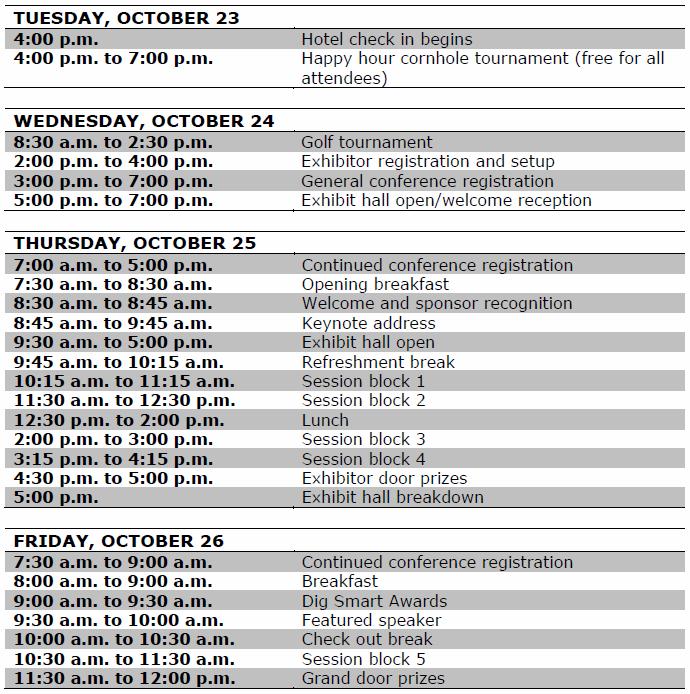 GCDPTC Schedule for Cvent 01.12.18