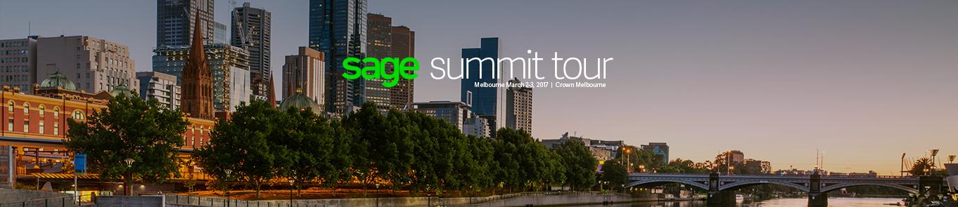 Sage Summit Tour - Melbourne