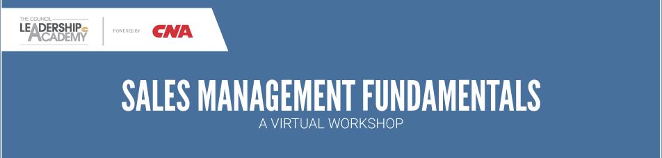VIRTUAL WORKSHOP: Sales Management Fundamentals