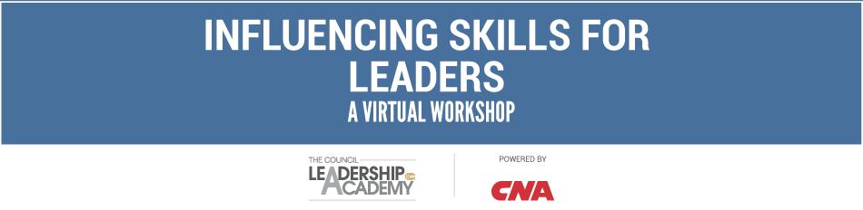 Influencing Skills for Leaders Virtual Workshop