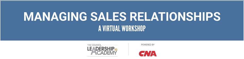 Managing Sales Relationships Virtual Workshop