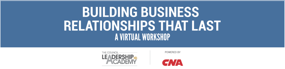 VIRTUAL WORKSHOP: Building Business Relationships That Last