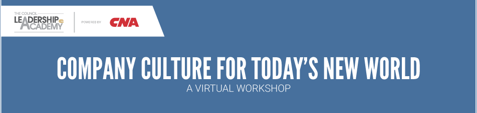 VIRTUAL WORKSHOP:Company Culture For Today's New World