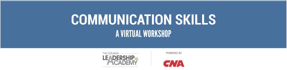 Communication Skills Virtual Workshop
