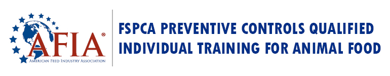 FSPCA Preventive Controls Qualified Individual Training for Animal Food