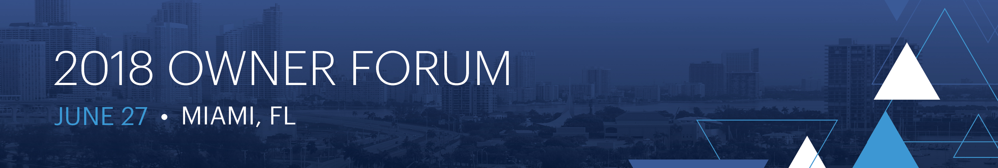 Owner Forum 2018