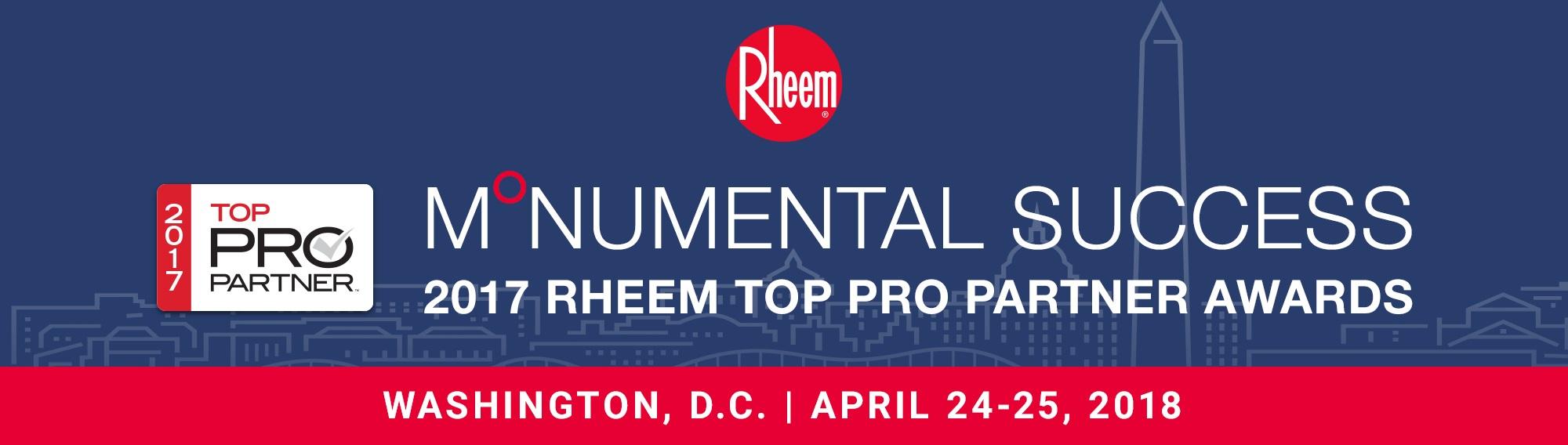 2017 Rheem Top Pro Partner Awards - Contractors