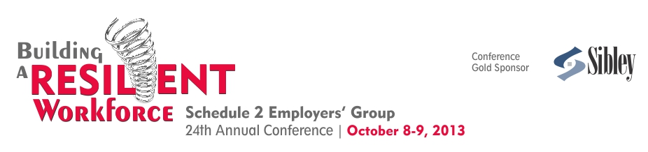 2013 Schedule 2 Employers' Group Conference_banner