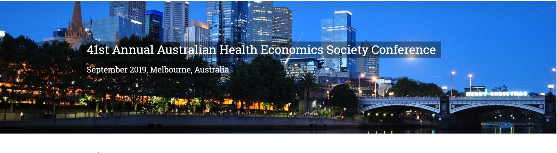 Australian Health Economics Society Conference 2019
