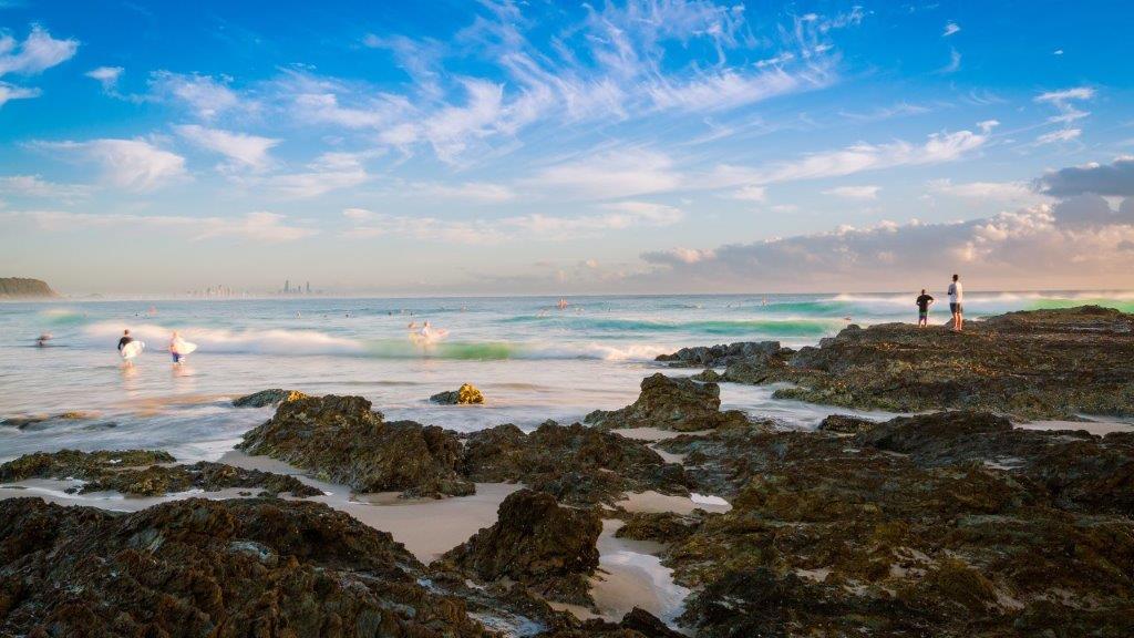 Currumbin morning surf