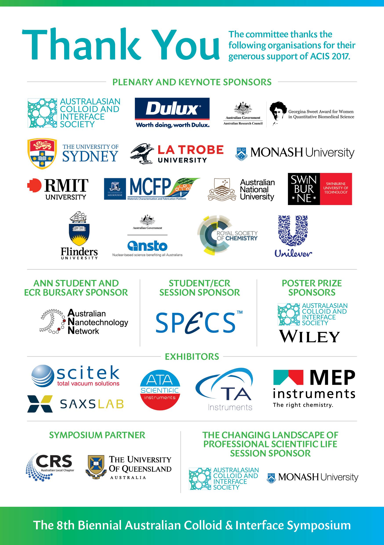 ACIS 2017 A5 Program Booklet Sponsors