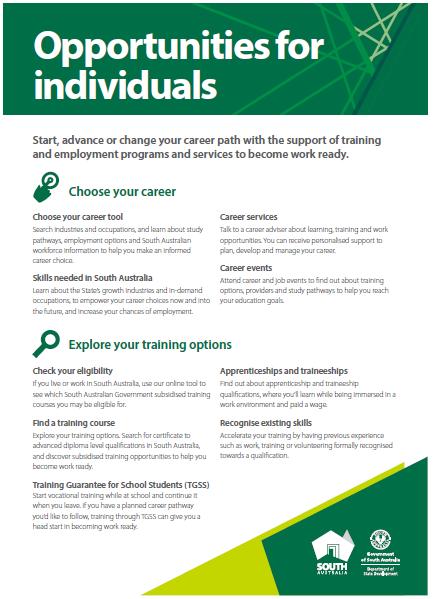 Opportunities for individuals snapshot