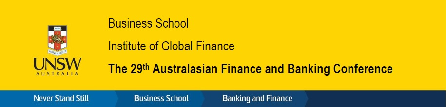 29th Australasian Finance and Banking Conference