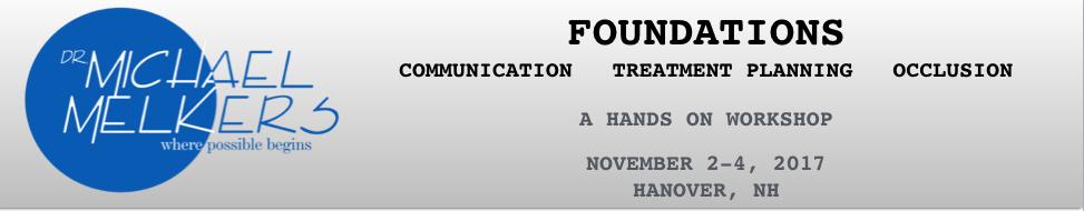 Nuts & Bolts~Foundations Hanover November 2017