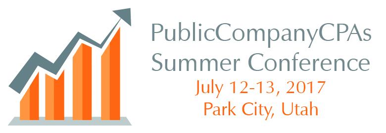 Public Company CPAs Summer Conference 2017