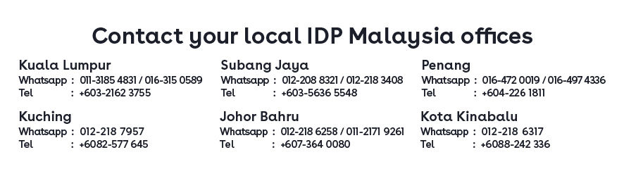IDP Offices Contact
