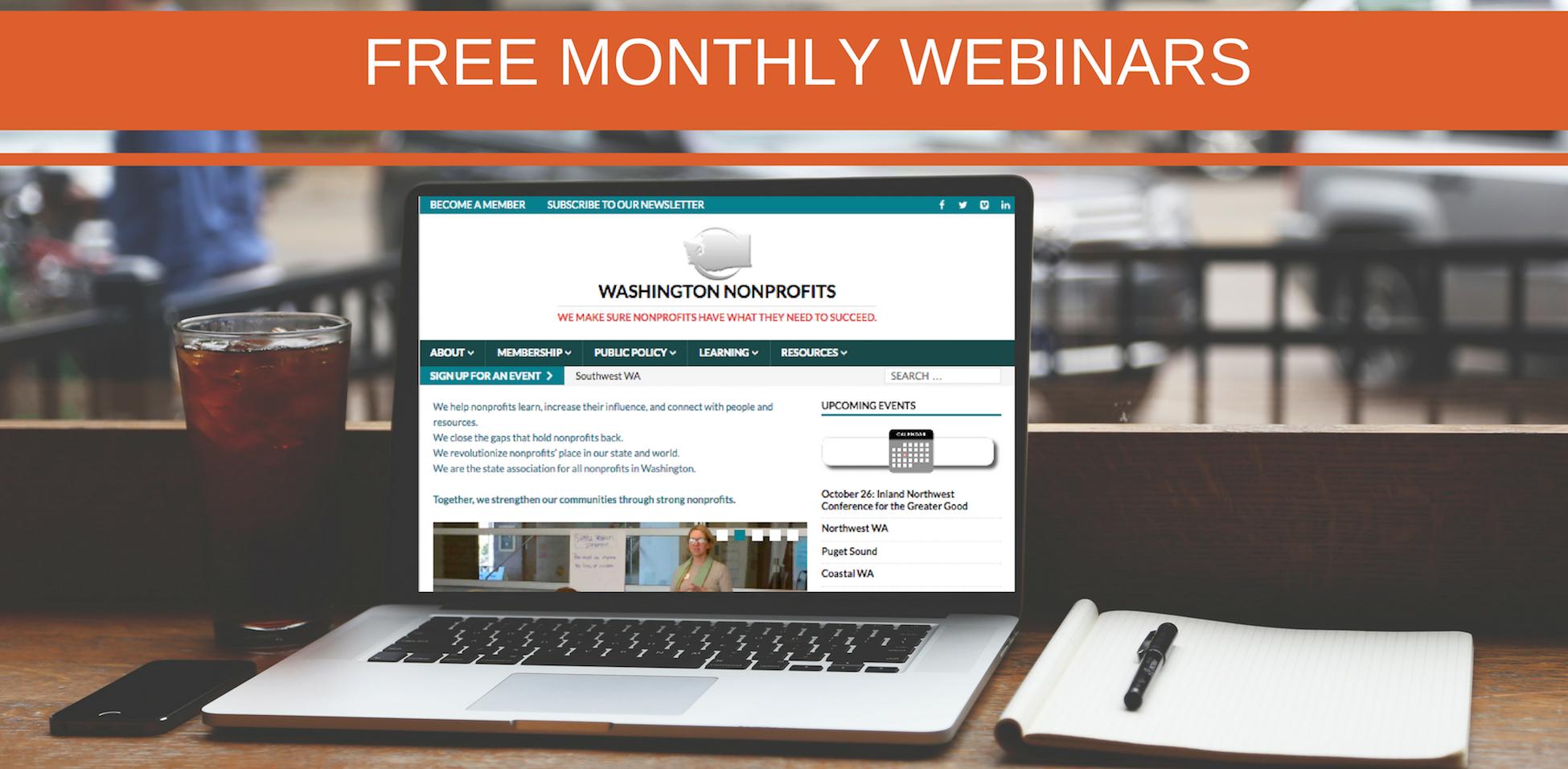 Cvent WN Free Monthly Webinars Banner