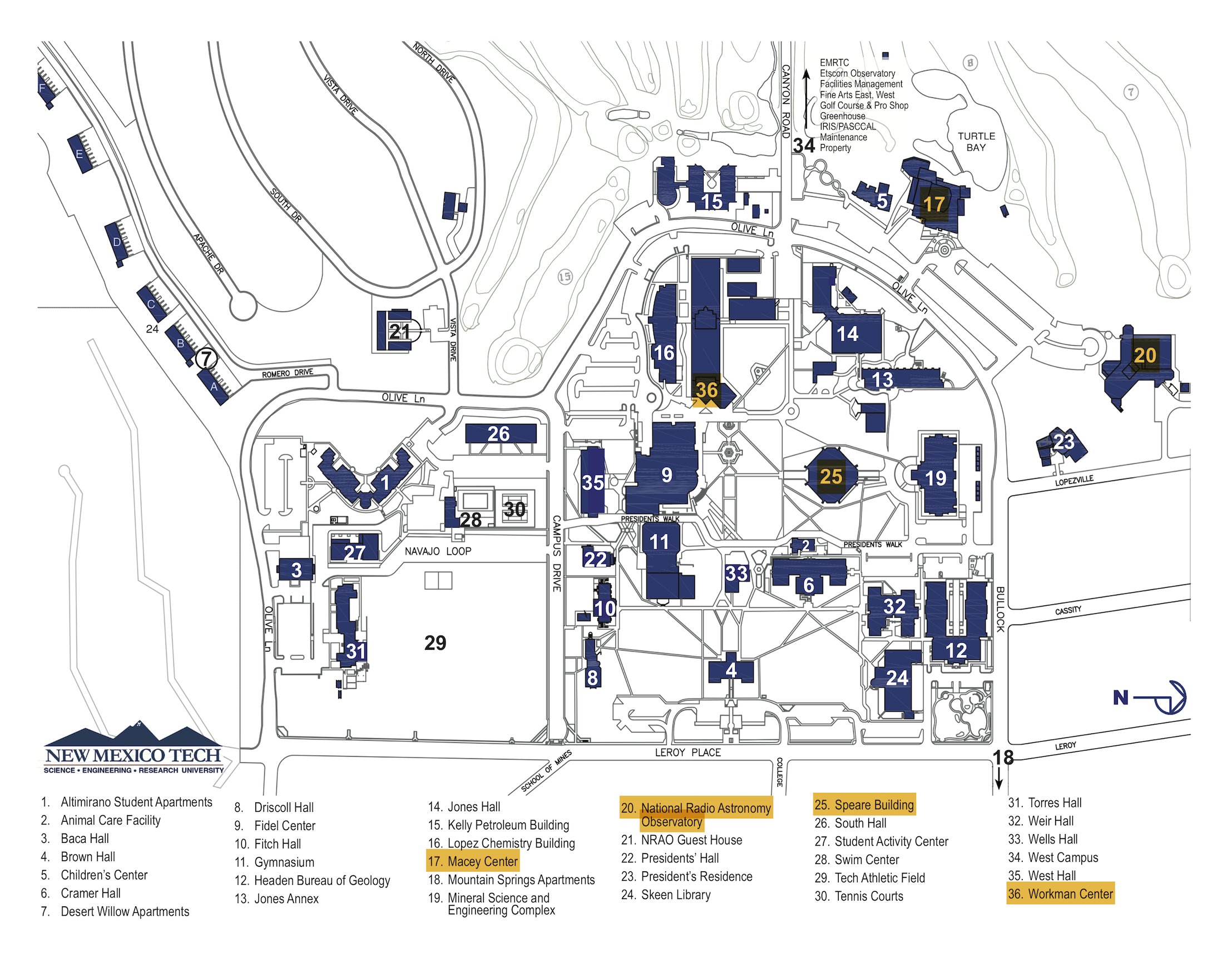 NMT_Campus_Map