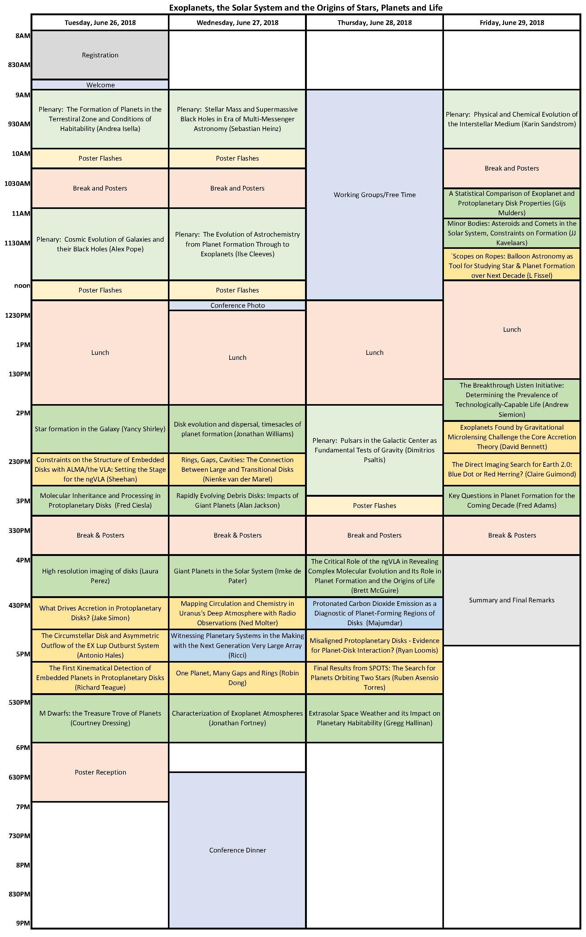 ngVLA18 program EXO draft 5
