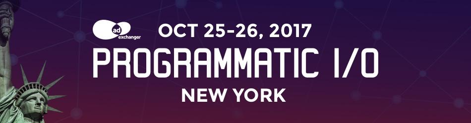 AdExchanger's PROGRAMMATIC I/O New York 2017