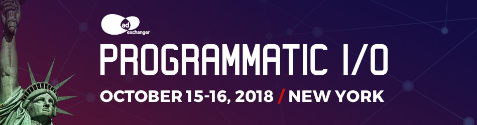 AdExchanger's PROGRAMMATIC I/O New York 2018