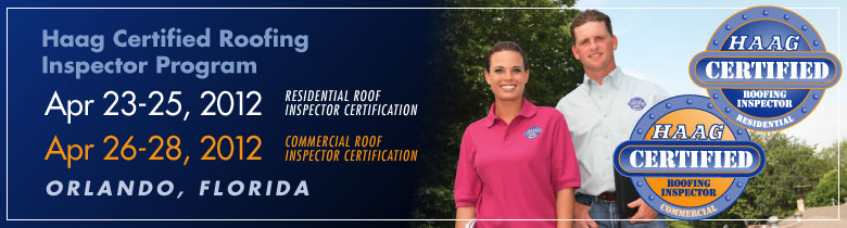 Haag Certified Roof Inspector- Orlando, FL - April, 2012