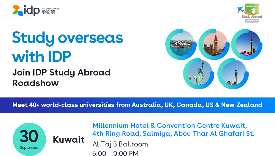 Join IDP Study Abroad Roadshow - Landing Page