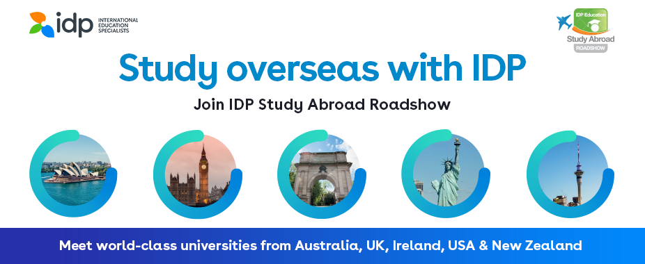 Join IDP Study Abroad Roadshow