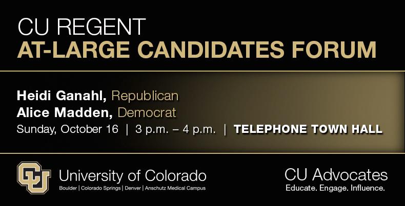 CU At-Large Regent Candidates