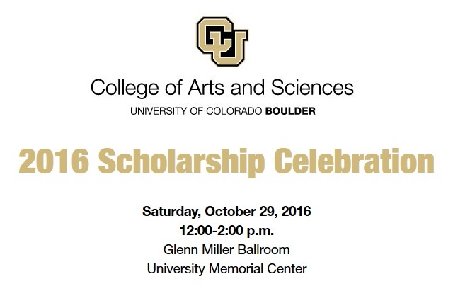 College of Arts and Sciences Scholarship Celebration