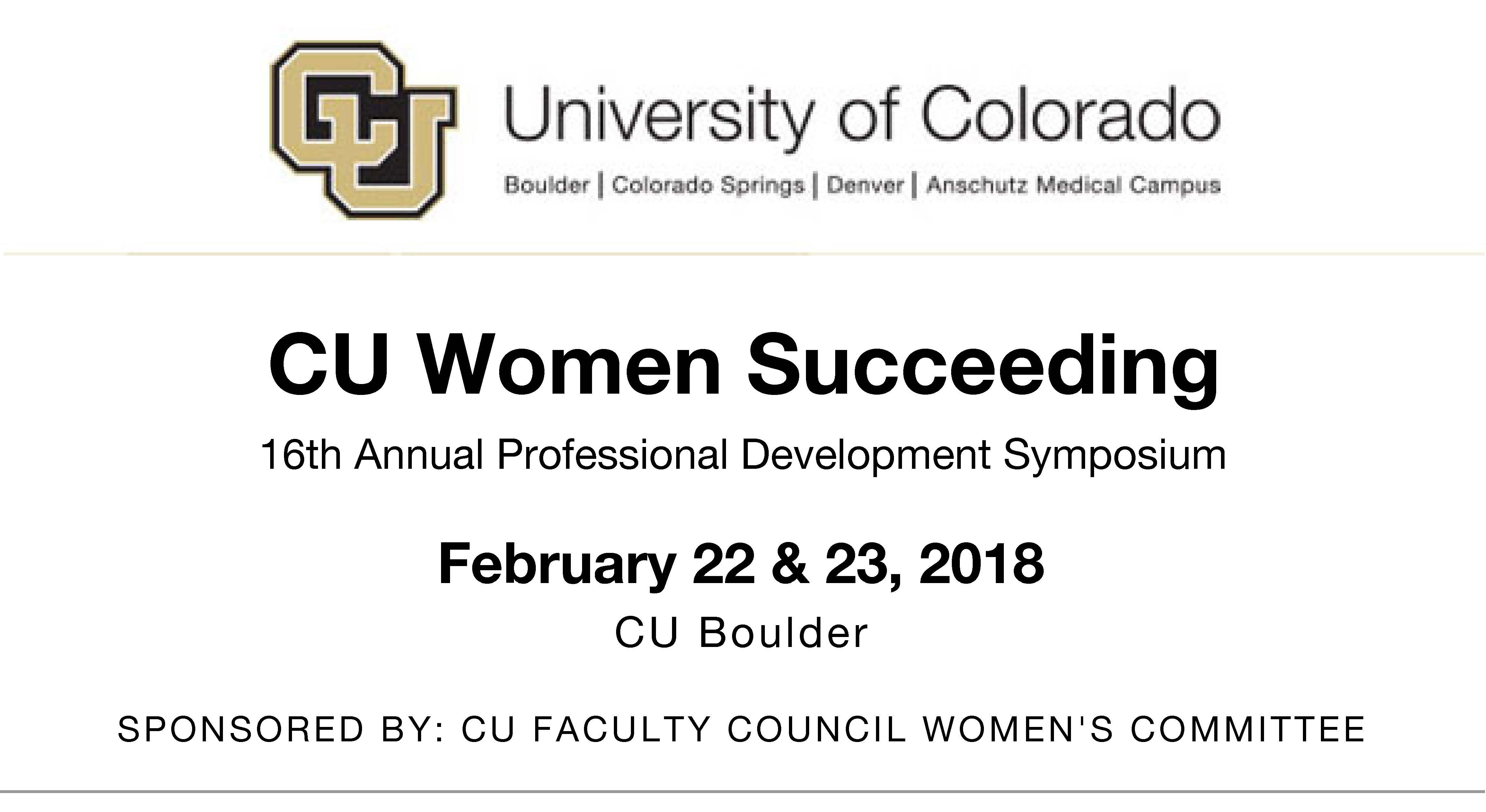 CU Women Succeeding Professional Development Symposium