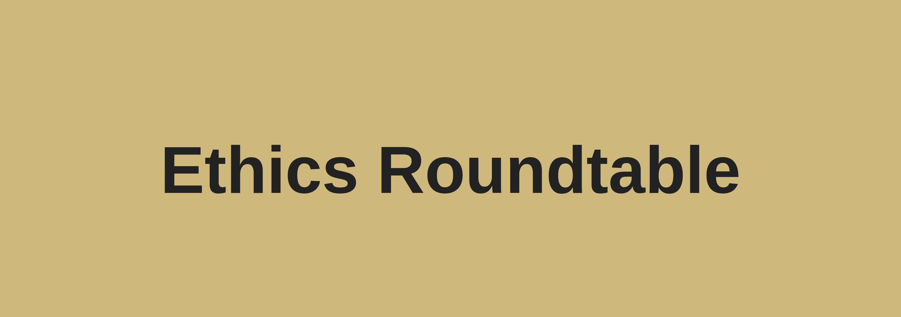 October Ethics Roundtable